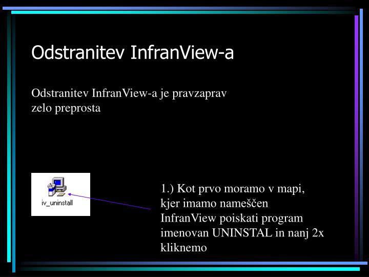 Odstranitev InfranView-a