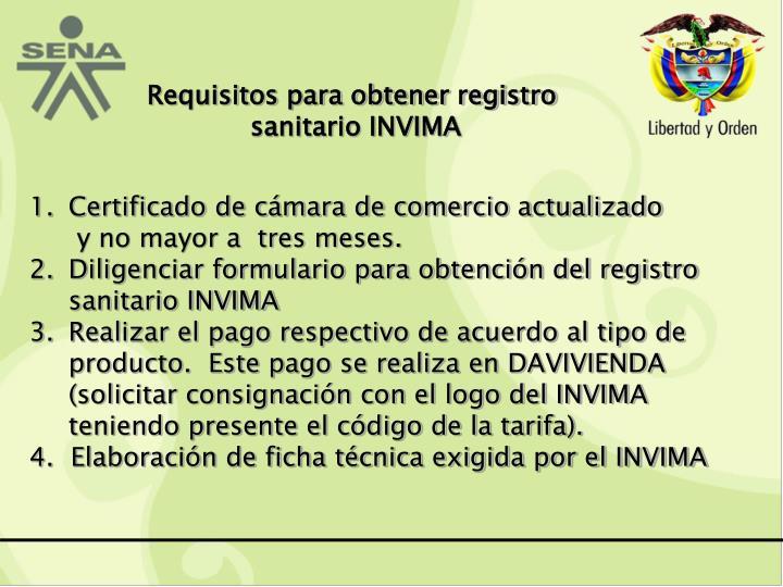 Requisitos para obtener registro