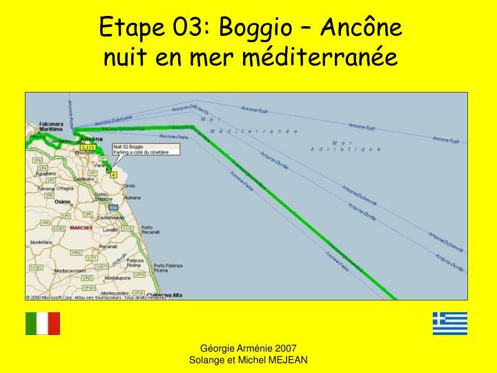 Etape 03: Boggio – Ancône