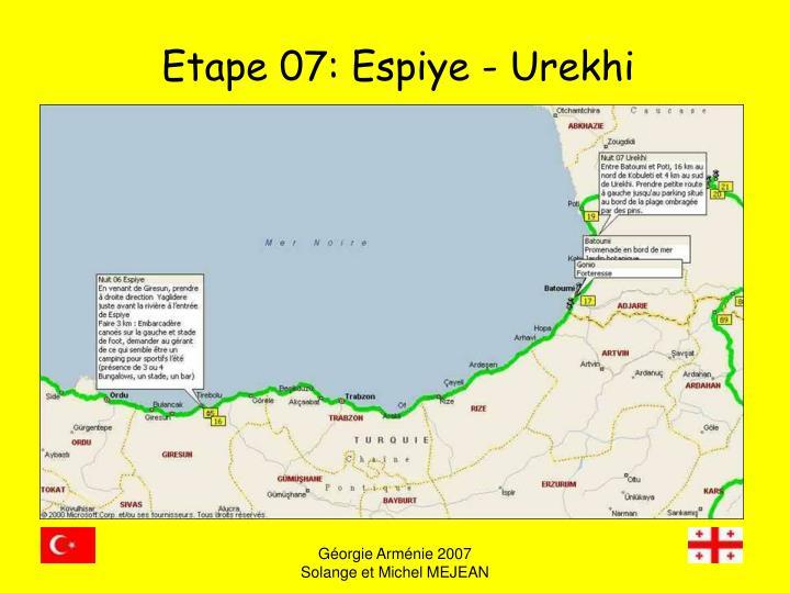 Etape 07: Espiye - Urekhi