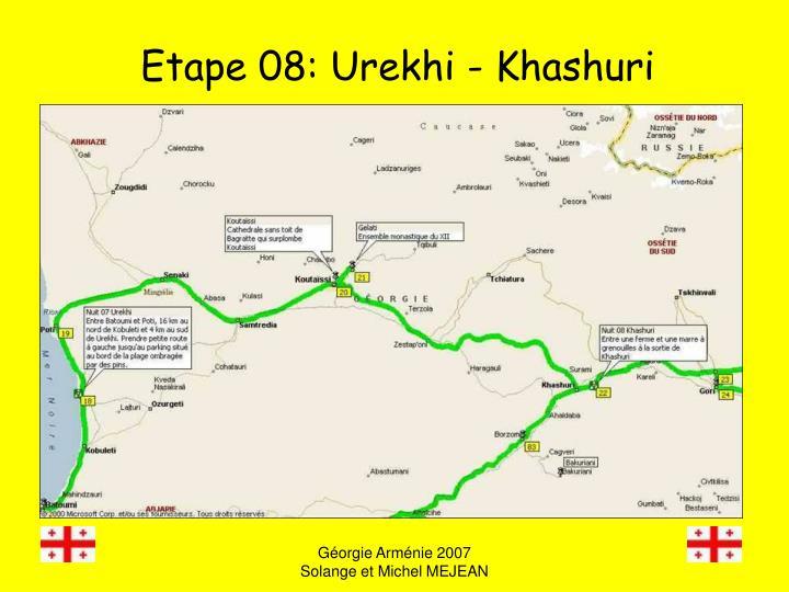 Etape 08: Urekhi - Khashuri
