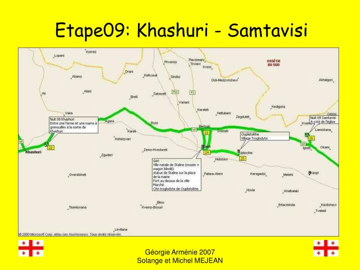 Etape09: Khashuri - Samtavisi