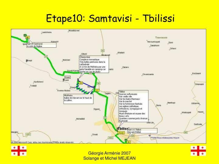 Etape10: Samtavisi - Tbilissi