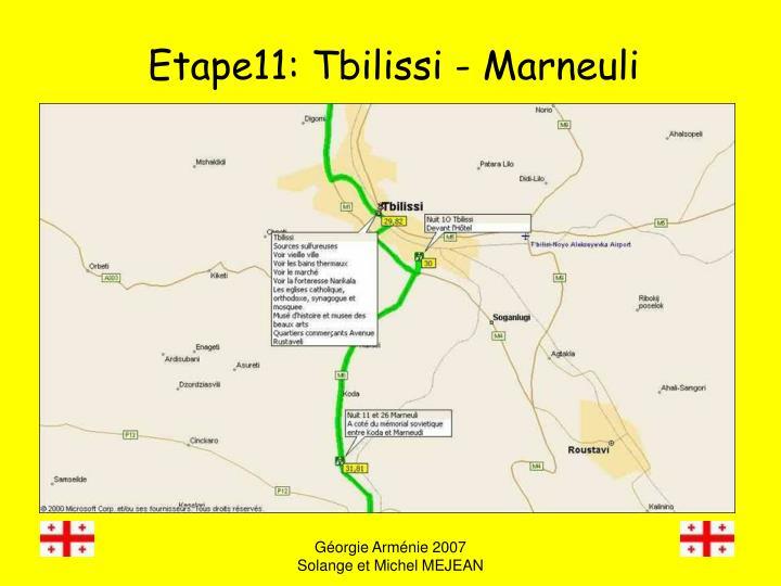 Etape11: Tbilissi - Marneuli