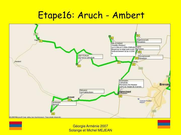 Etape16: Aruch - Ambert