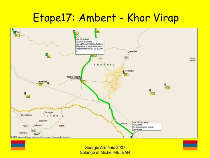 Etape17: Ambert - Khor Virap