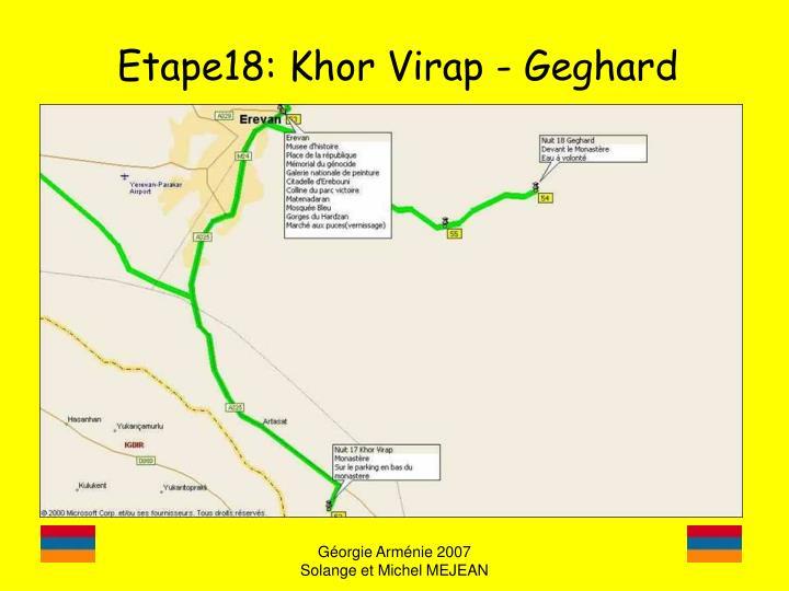Etape18: Khor Virap - Geghard