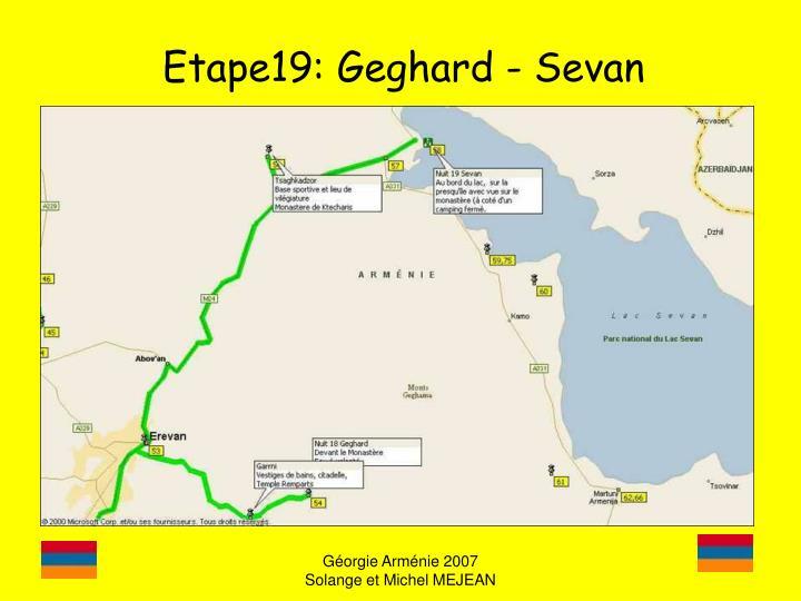 Etape19: Geghard - Sevan