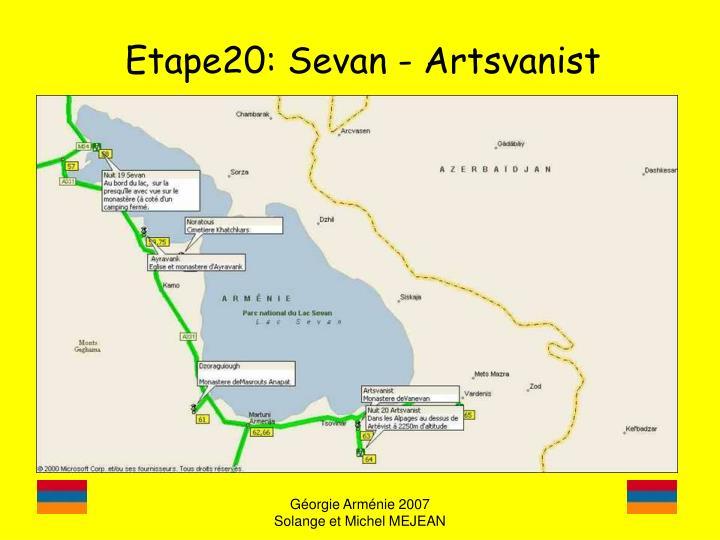 Etape20: Sevan - Artsvanist