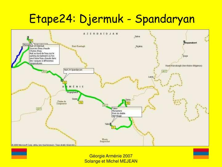 Etape24: Djermuk - Spandaryan