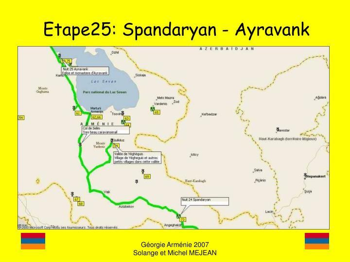 Etape25: Spandaryan - Ayravank