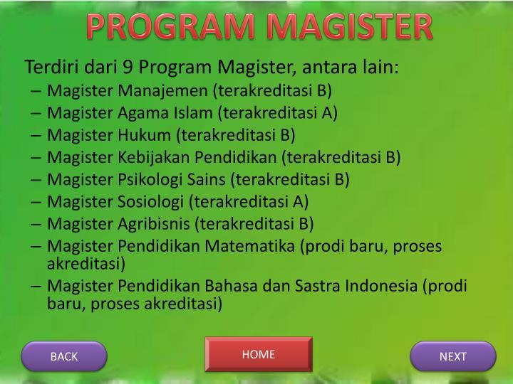 PROGRAM MAGISTER