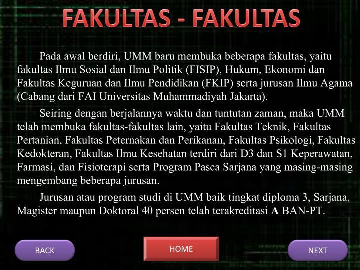 FAKULTAS - FAKULTAS