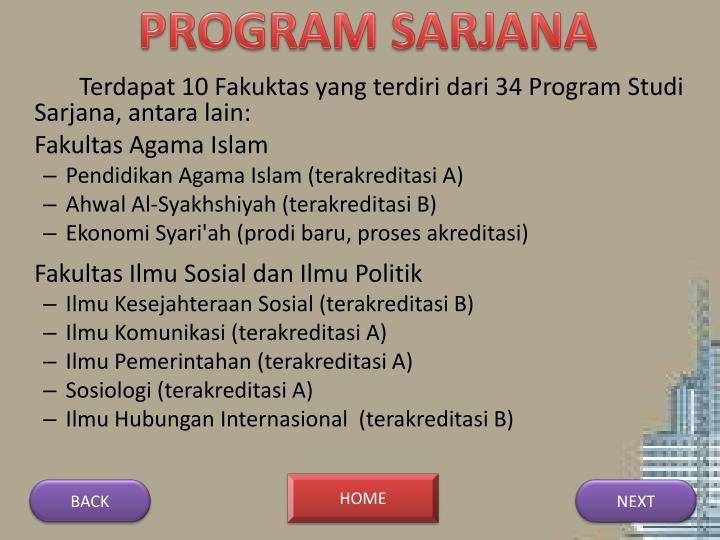 PROGRAM SARJANA