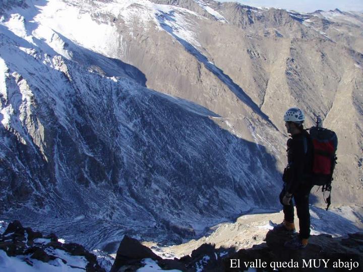 El valle queda MUY abajo