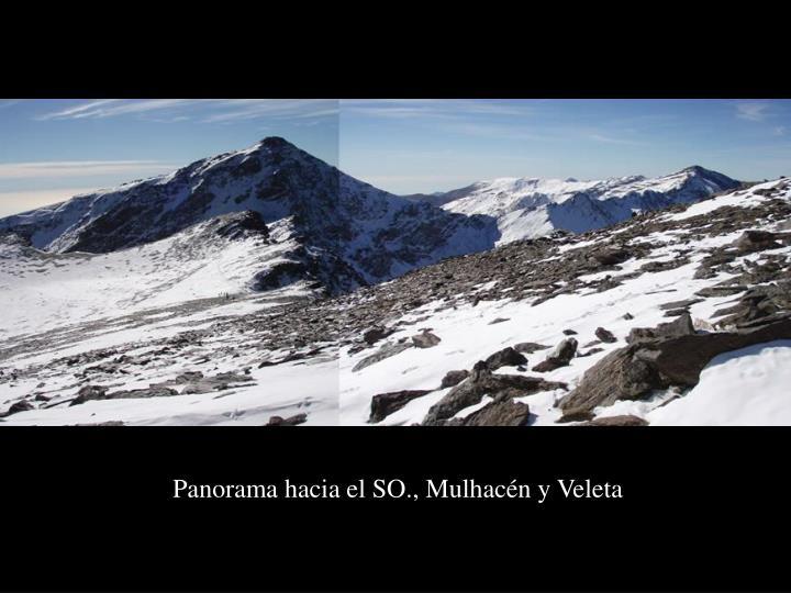 Panorama hacia el SO., Mulhacén y Veleta