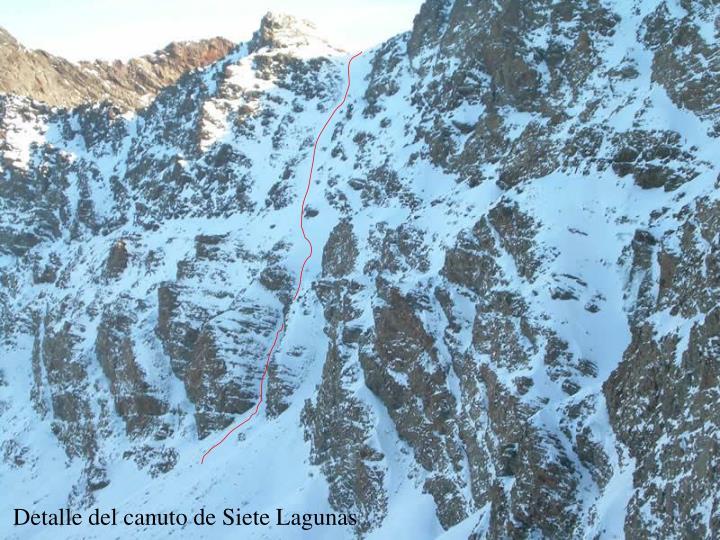 Detalle del canuto de Siete Lagunas