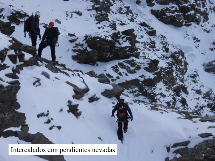 Intercalados con pendientes nevadas