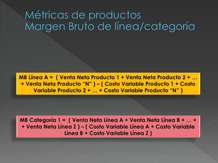 Métricas de productos