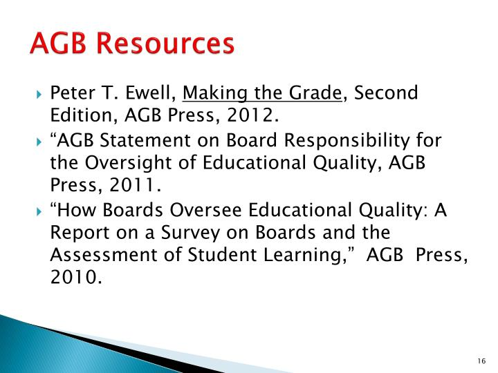 AGB Resources