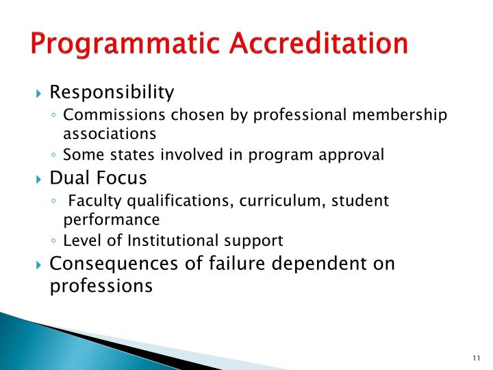 Programmatic Accreditation