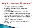 why assessment movement
