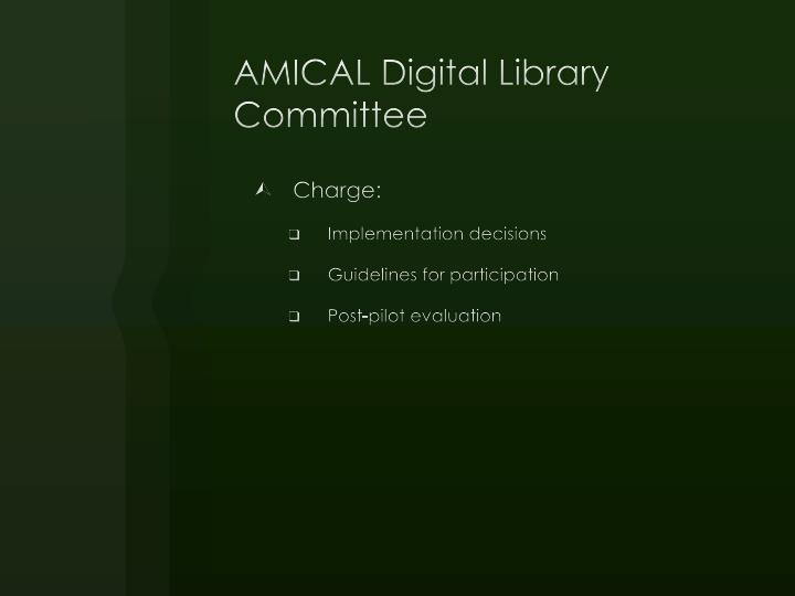 AMICAL Digital Library Committee
