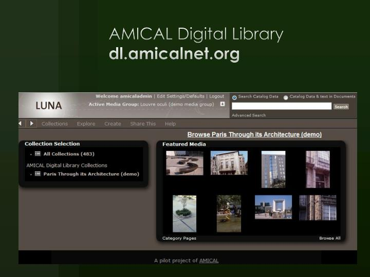 AMICAL Digital Library