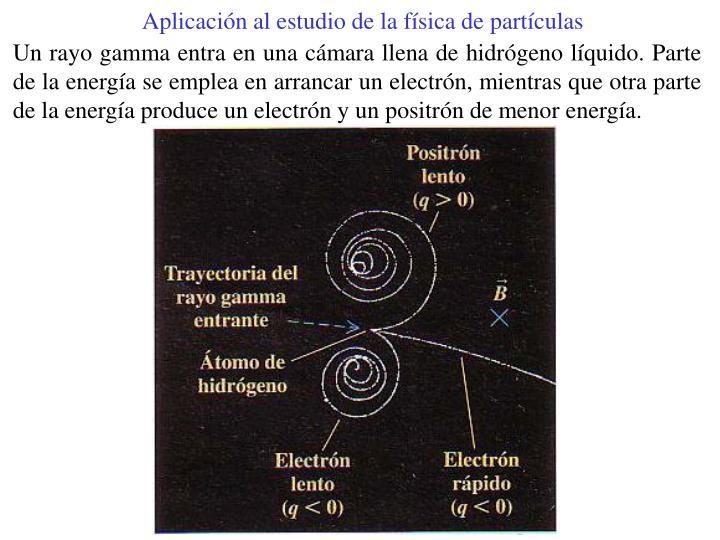 Aplicación al estudio de la física de partículas