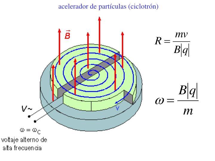 acelerador de partículas (ciclotrón)