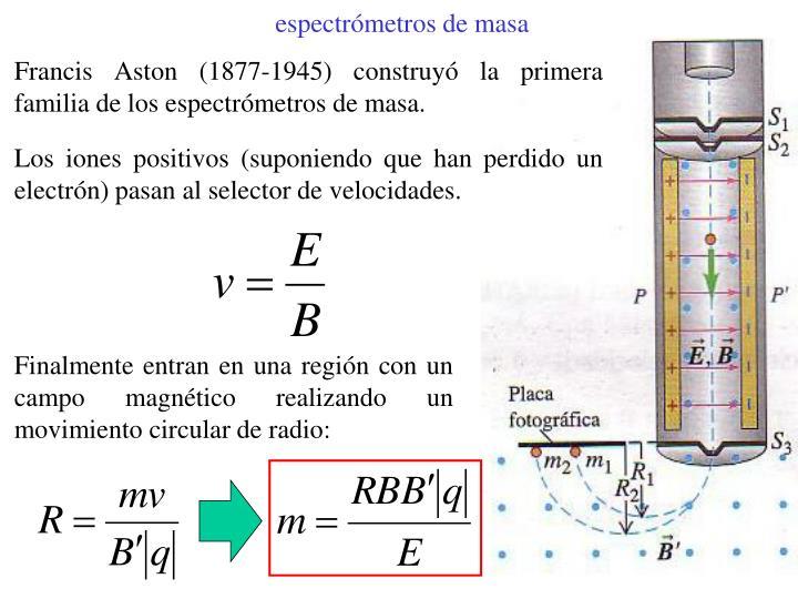 espectrómetros de masa