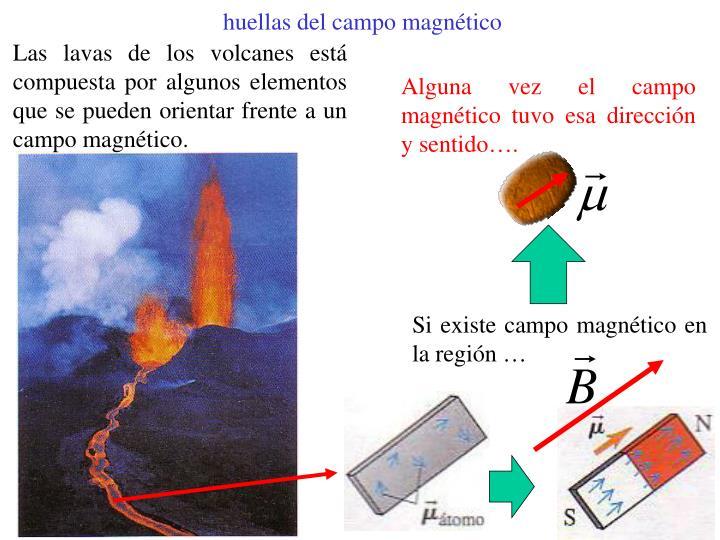 huellas del campo magnético