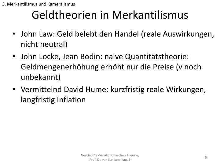 3. Merkantilismus und