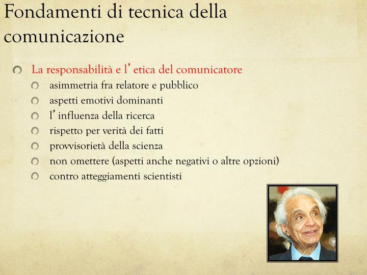 Fondamenti di tecnica della comunicazione