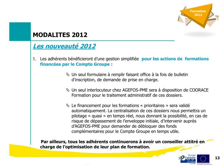 Formation 2012