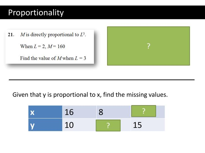 Proportionality