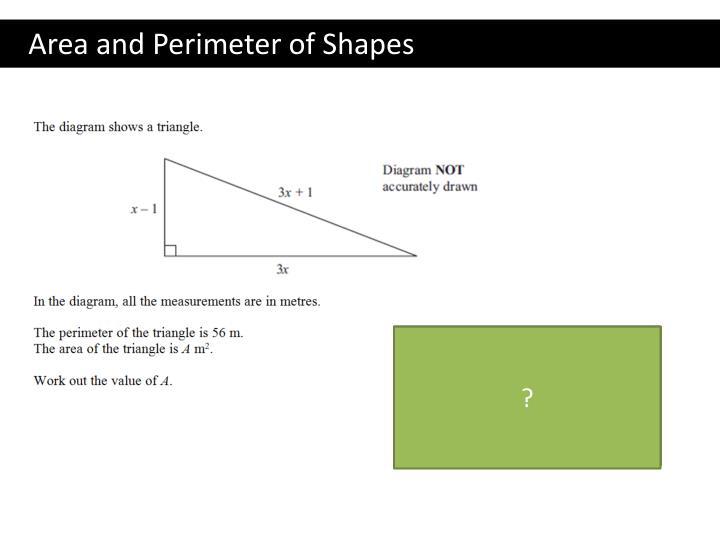 Area and Perimeter of Shapes