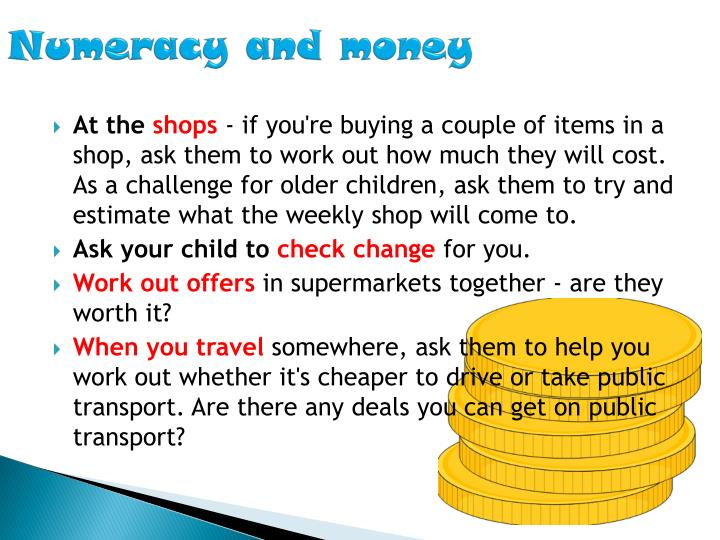 Numeracy and money