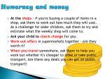 numeracy and money1