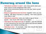 numeracy around the home