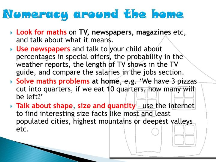 Numeracy around the home