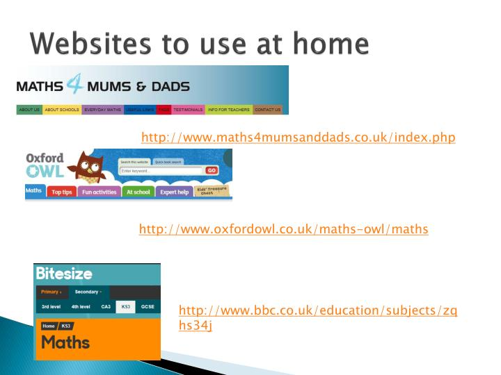 Websites to use at home
