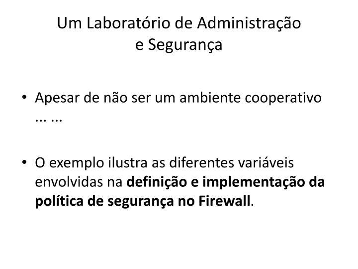 Um Laboratório de Administração