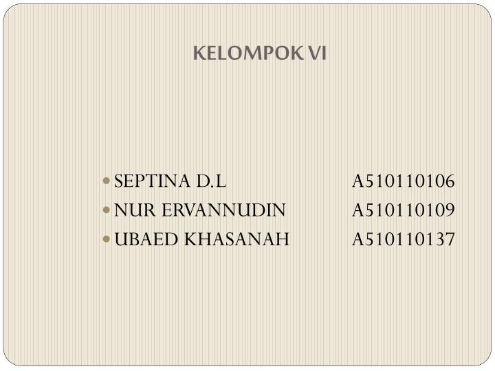 KELOMPOK VI