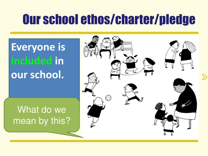 Our school ethos/charter/pledge