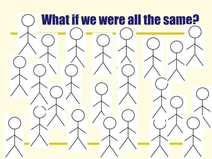 What if we were all the same?