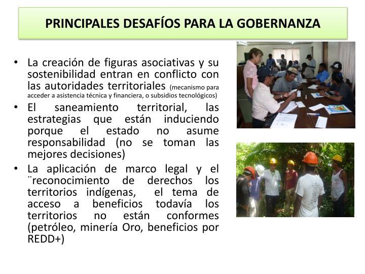 PRINCIPALES DESAFÍOS PARA LA GOBERNANZA