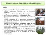 temas de dialogo en la agenda mesoamericana1