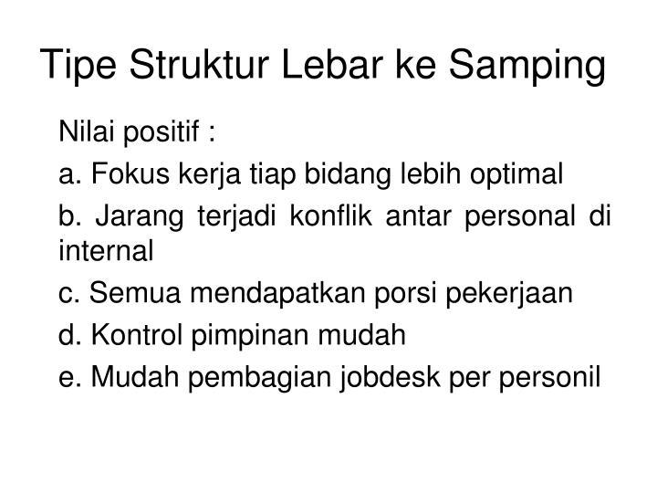 Tipe Struktur Lebar ke Samping