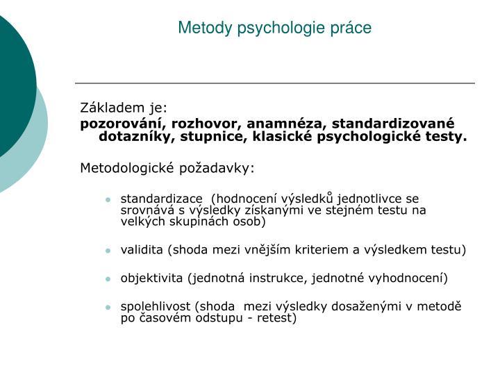 Metody psychologie práce
